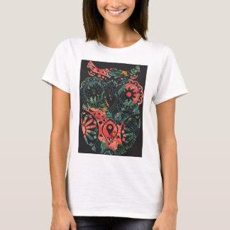 T-shirt Hibou hawaïen de crâne de sucrerie