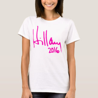 "T-shirt ""HILLARY 2016"" (double face)"