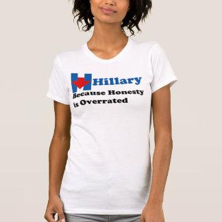 T-shirt Hillary Clinton - l'honnêteté est surestimée