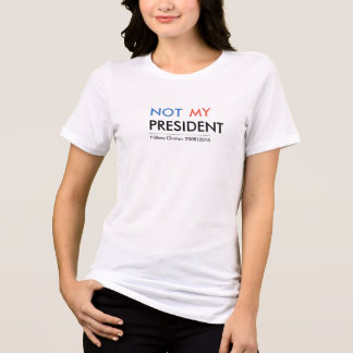 T-shirt Hillary Clinton non mon président
