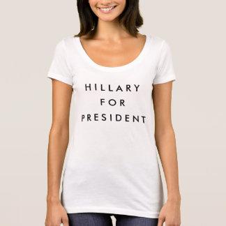 T-shirt Hillary pour le président 2016