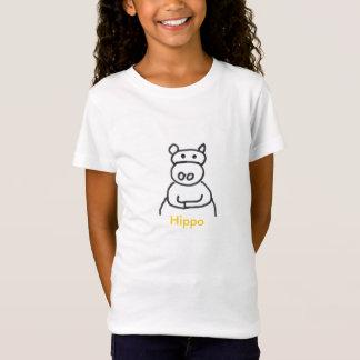 T-Shirt hippopotame [1], hippopotame