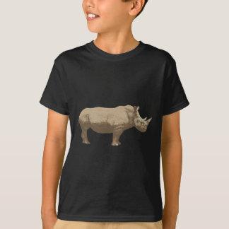 T-shirt Hippopotame coupé sur l'arrière - plan bleu