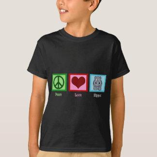 T-shirt Hippopotame d'amour de paix