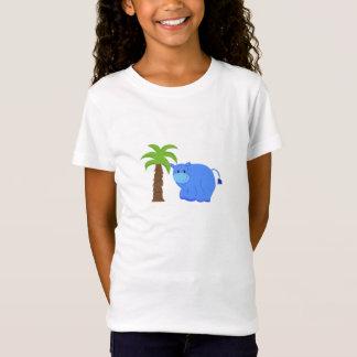 T-Shirt Hippopotame par un palmier