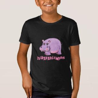 T-Shirt Hippopotame pourpre de bonheur - pièce en t