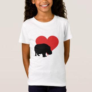 T-Shirt Hippopotame rouge de coeur