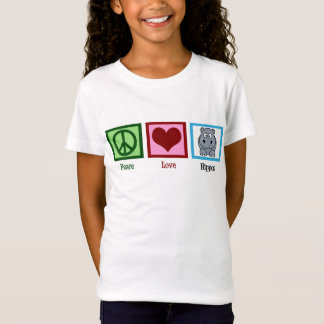 T-Shirt Hippopotames d'amour de paix mignons