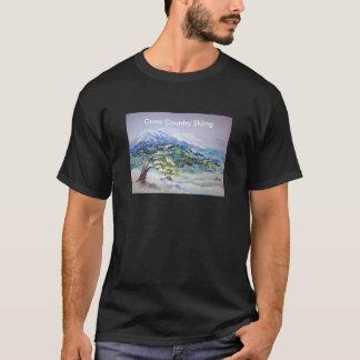 T-shirt Hiver profond, paysage acrylique