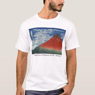 T-shirt Hokusai sur le mont Fuji, - ciel du sud d'espace