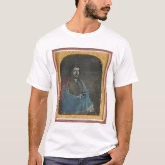 T-shirt Homme avec le manteau bleu et revolver (40455)