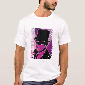T-shirt Homme dans un casquette supérieur