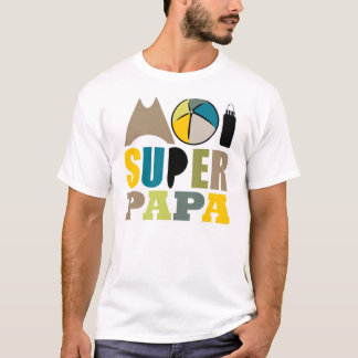 T-Shirt Homme - Logo Moi Super Papa Nature