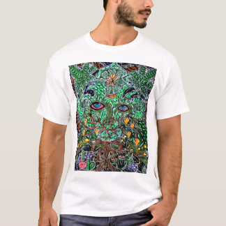 T-shirt homme vert psychédélique
