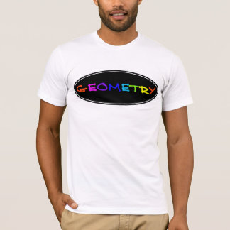 T-shirt Hommes au néon de la géométrie