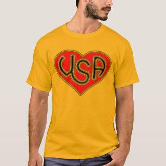T-shirt Hommes de coeur des Etats-Unis