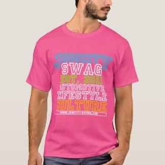 T-shirt Hommes de rose d'université de JDM