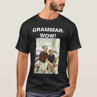 T-shirt Hommes Grammaire-Wow