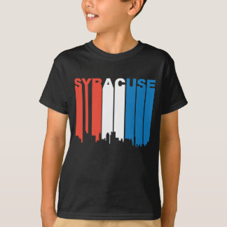 T-shirt Horizon blanc et bleu rouge de Syracuse New York