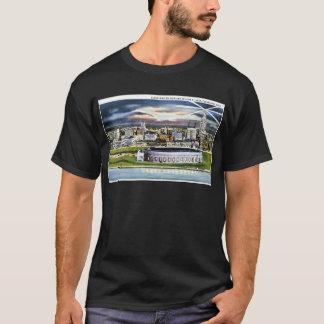 T-shirt Horizon de Cleveland Stadium au crépuscule,