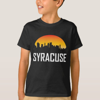 T-shirt Horizon de coucher du soleil de Syracuse New York