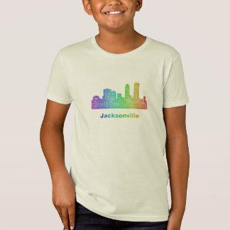 T-Shirt Horizon de Jacksonville d'arc-en-ciel