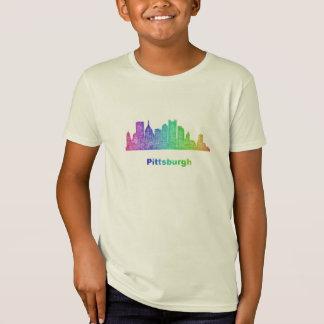 T-Shirt Horizon de Pittsburgh d'arc-en-ciel