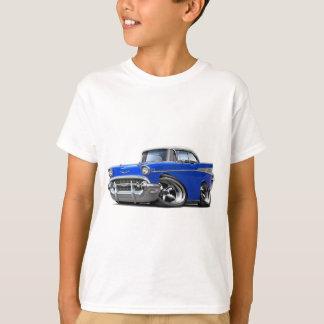 T-shirt Hot rod 1957 Bleu-Blanc de Chevy Belair
