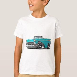 T-shirt Hot rod 1957 de convertible de turquoise de Chevy