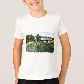 T-shirt Hôtel de rivage de lac, lac clair, Iowa
