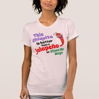 T-shirt Hotter qu'un Jalapeno sur Cinco De Mayo