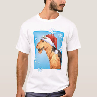 T-shirt Howliday heureux Airedale