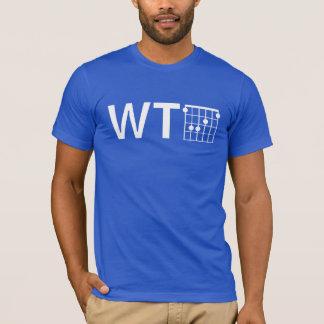 T-shirt Humour WTF avec la corde de la guitare F