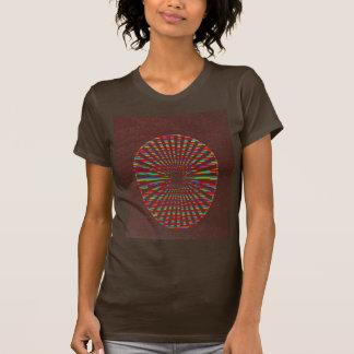 T-shirt Hutte de MODE : Chakra brun chocolat d'énergie de