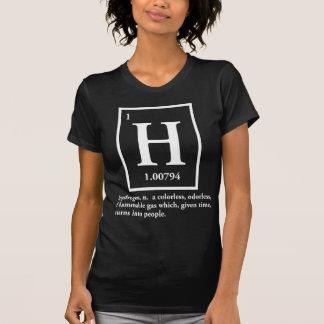 T-shirt hydrogène - un gaz qui se transforme en personnes