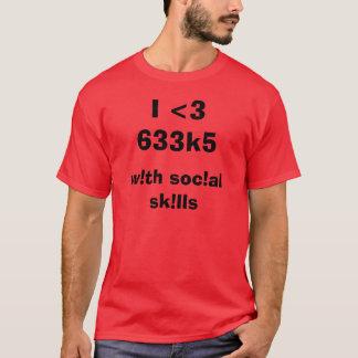 T-shirt I <3 633k5