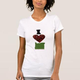 T-shirt I canneberges de l'Orégon de coeur