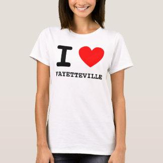 T-shirt I chemise de FAYETTEVILLE de coeur