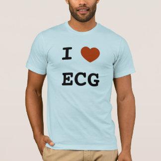 T-shirt I coeur ECG