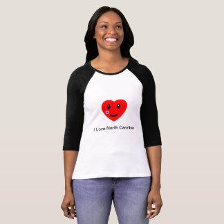 T-shirt I coeur la Caroline du Nord
