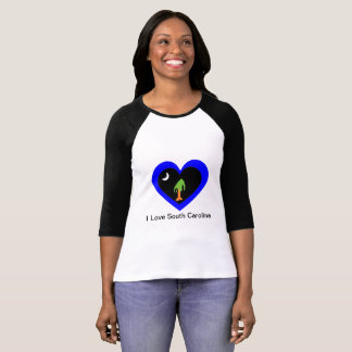 T-shirt I coeur la Caroline du Sud