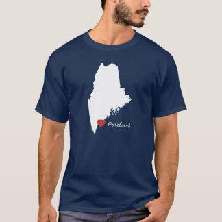 T-shirt I coeur Maine - ville personnalisable