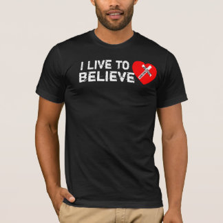T-shirt I en direct tonne Believe (Jesus Saves)