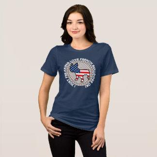 T-shirt I juste bouledogues français Freaking d'amour