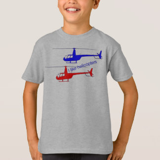 "T-shirt «i like helicopters """