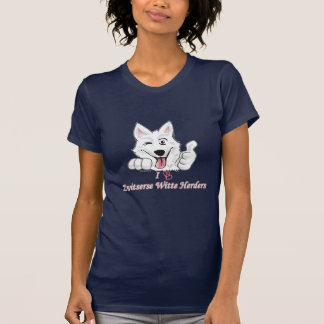 T-shirt I love bergers blancs suisses
