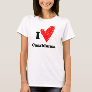 T-shirt I love Casablanca