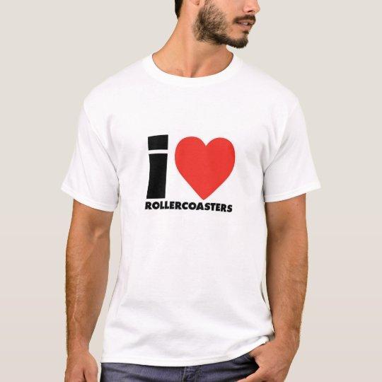 T-shirt I Love Roller Coaster