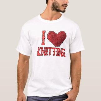 T-shirt I tricot de coeur (amour)