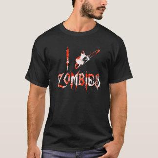 T-shirt I zombis de tronçonneuse - zombis d'amour d'I